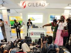 A protest in France against Gilead Sciences' high cost for Sovaldi. (Photo: Sylvain Thomas, AFP/Getty Images)