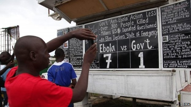 Many in Liberia say the government's response to the crisis has been inadequate