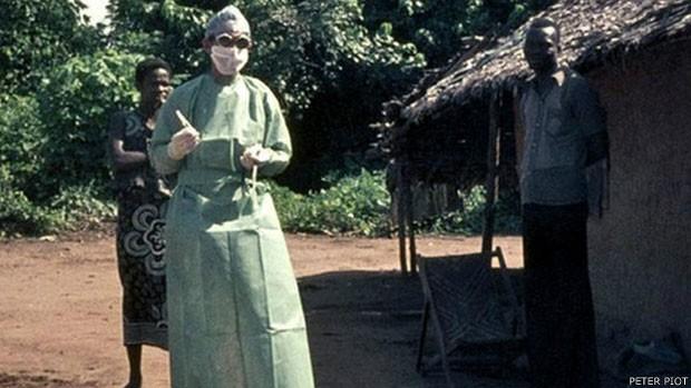 Peter Piot descobriu o ebola em 1976 no Congo (Foto: Peter Piot)