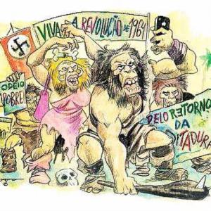 Charge retirada da página do facebook do deputado federal Jean Wyllys, PSOL
