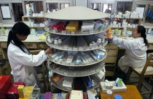 Pharmacists fill out prescriptions in China's Jiangsu province. (Photo: Patty Chen/Courtesy Reuters)