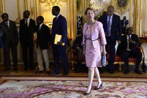 Ségolène Royal à Matignon, le 24 juillet, lors de la visite du premier ministre sénégalais. BERTRAND GUAY / AFP
