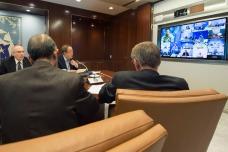 El Secretario General de la ONU habla por video conferencia con sus representantes especiales, jefes militares y de policía en operaciones de paz Foto: ONU/Eskinder Debebe