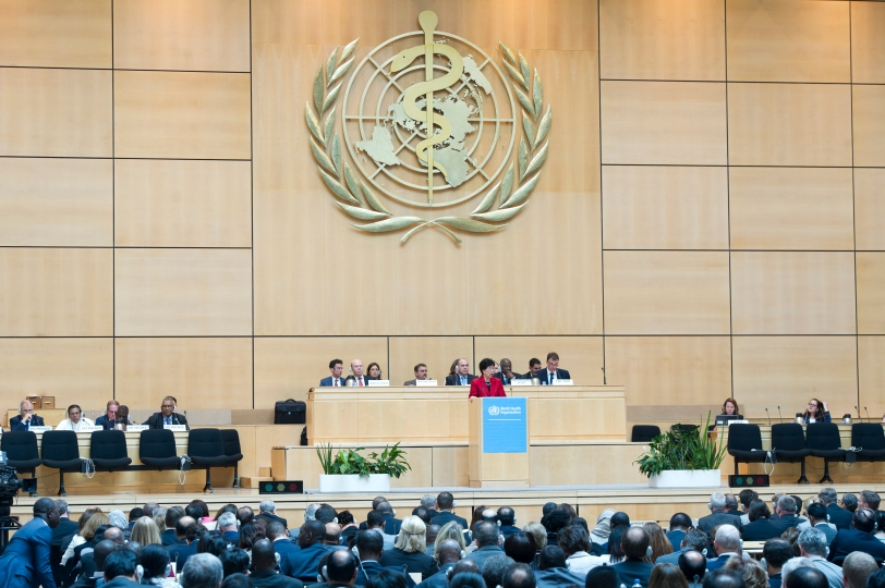 Dr Margaret Chan, WHO Director-General addresses during the 67th World Health Assembly, Palais des Nations, Geneva. May 2014 Photo by Violaine Martin. PLOS