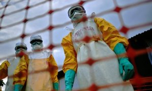 Médecins Sans Frontières (MSF) medical staff tackle Ebola in Kailahun, Sierra Leone. The outbreak killed 11,000 people. Photograph: Carl de Souza/AFP/Getty Images